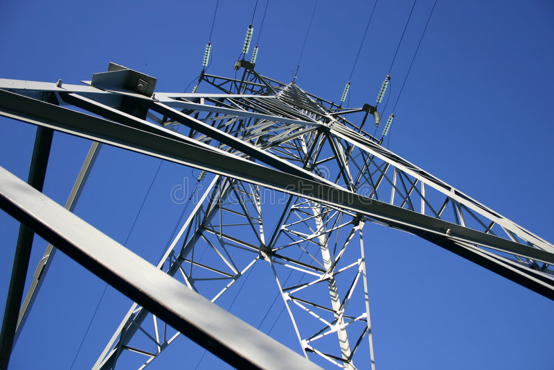 Power line V royalty free stock photo