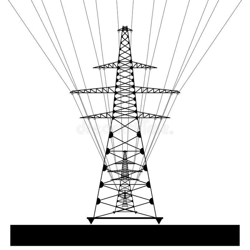 power line  vector eps10 stock vector  illustration of pictograph