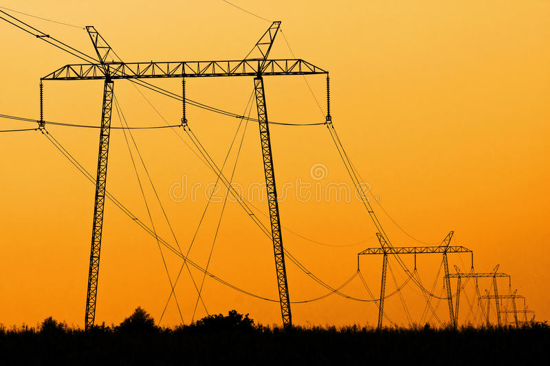 Download Power Lines Royalty Free Stock Photo - Image: 15609555