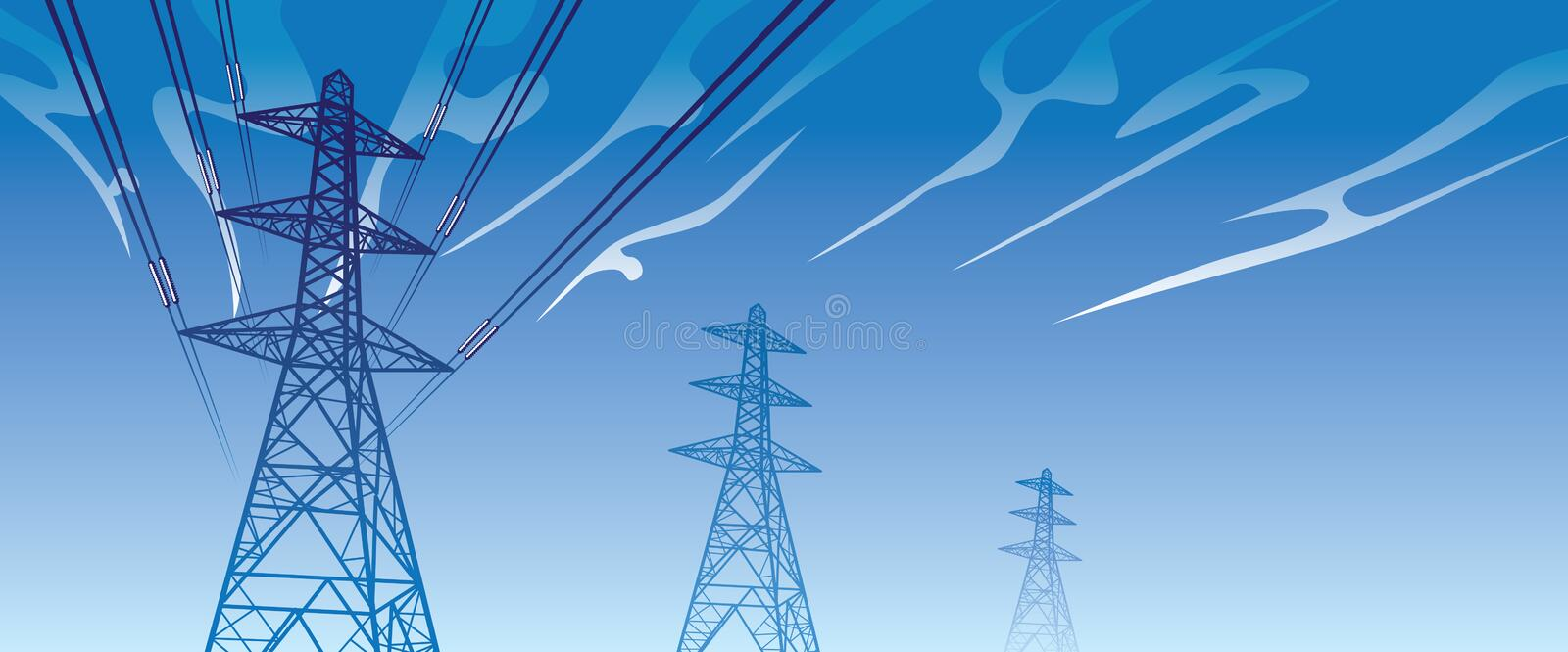 Download Power lines stock vector. Image of preserve, keep, voltage - 17363409