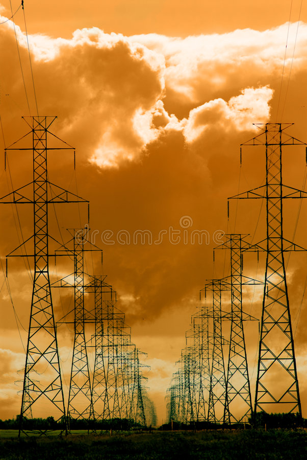 Download Power lines stock photo. Image of industry, dramatic, power - 2364718