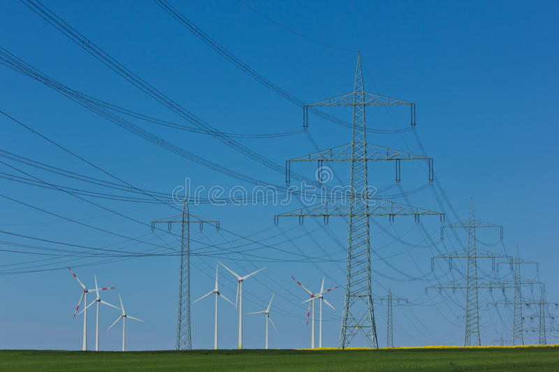 Download Power lines stock photo. Image of efficiency, electric - 25225908