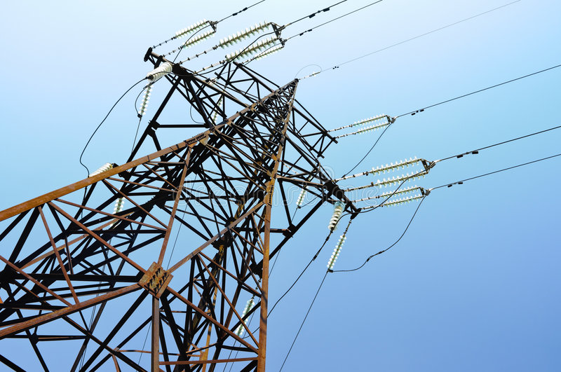 Download Power lines stock image. Image of conduct, iron, environment - 7708537