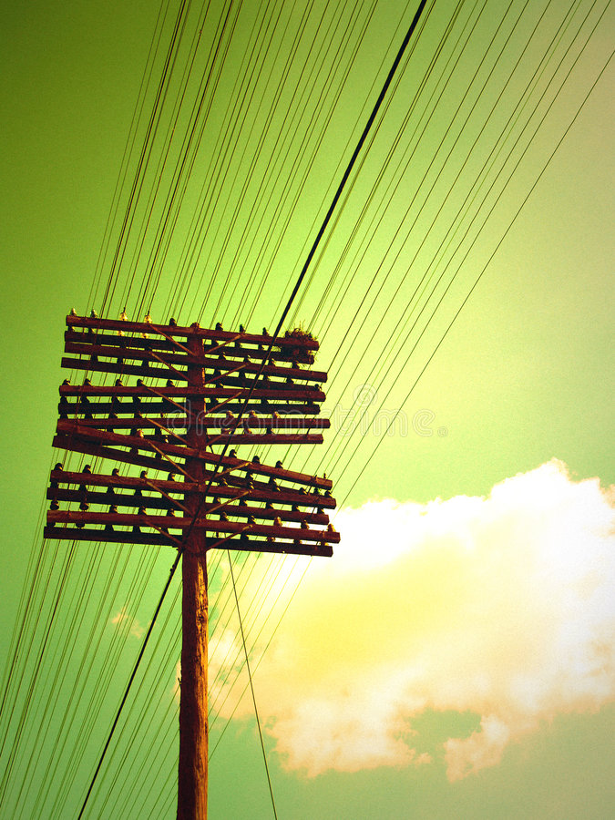Power lines royalty free stock photography