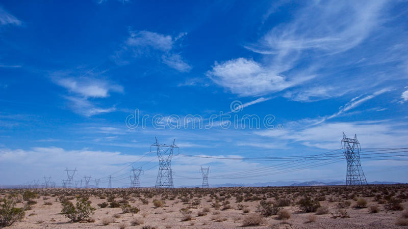 Download Power Lines in the Desert stock image. Image of energy - 28561291