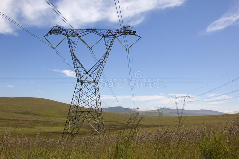 Power lines. royalty free stock images
