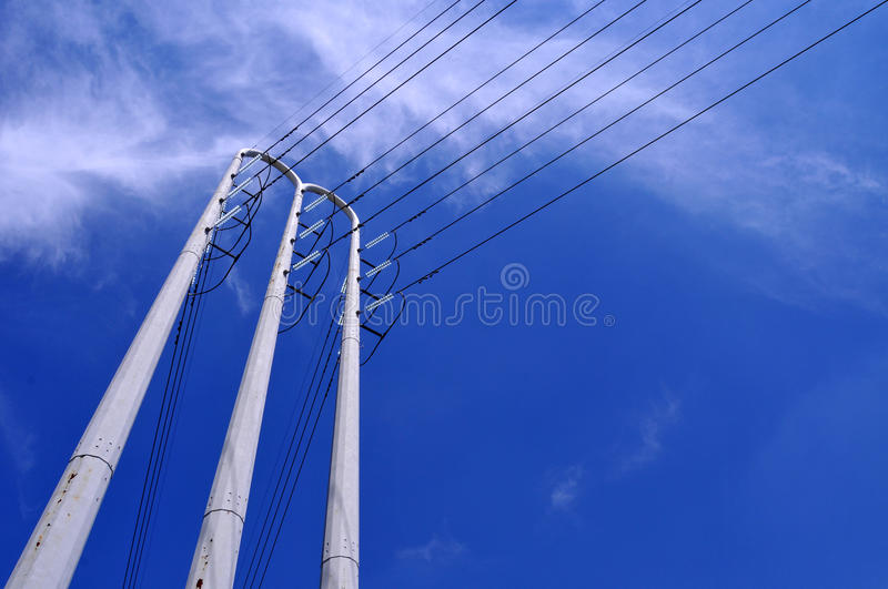 Download Power Lines Tilted Stock Photo - Image: 26199260