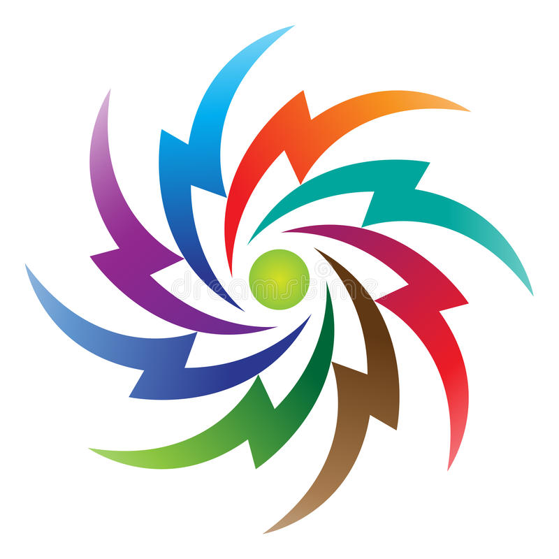 Power logo. Illustration of power logo design isolated on white background vector illustration