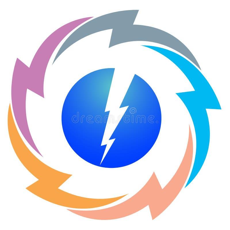 Power logo. Illustration of power logo isolated on white background vector illustration