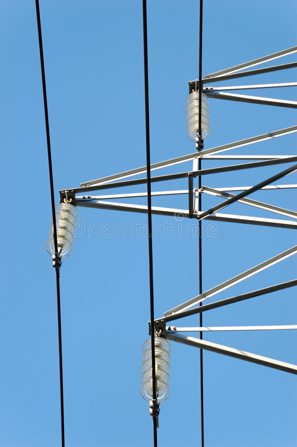 Power Mast Fixtures royalty free stock images