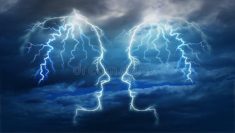 Power Meeting royalty free illustration