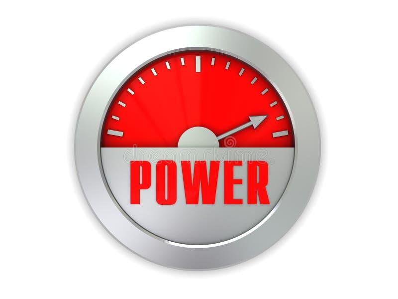 Power Meter Icon : Power meter stock illustration of full
