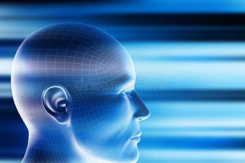 Download Power of mind stock illustration. Image of copyspace - 18996729
