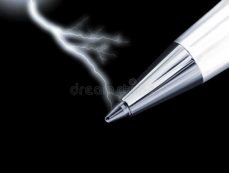 Power of the pen stock images