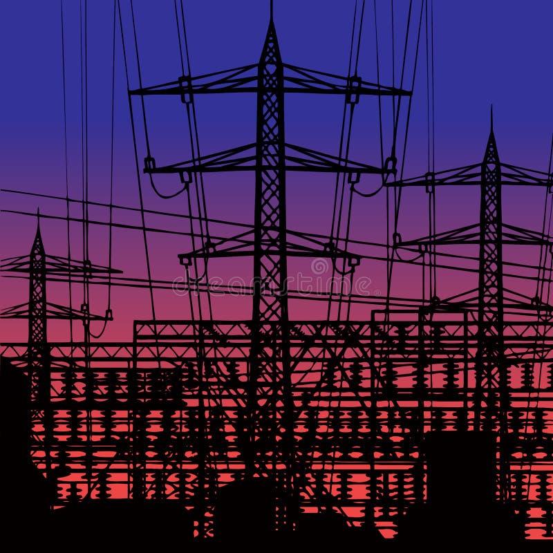 Download Power plant. stock illustration. Illustration of environment - 18726772