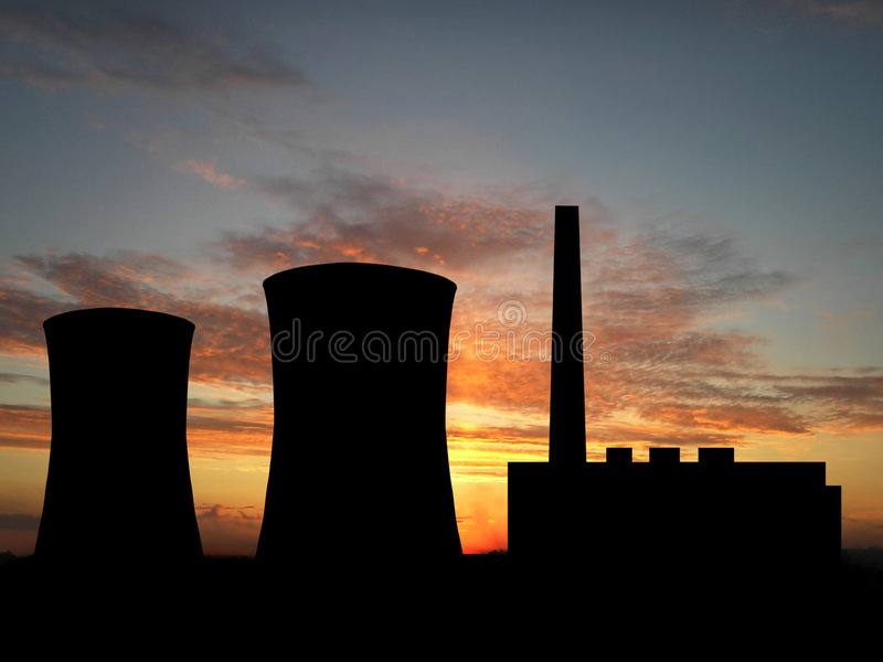 Download Power Plant stock illustration. Image of front, pipe, cooling - 2313130