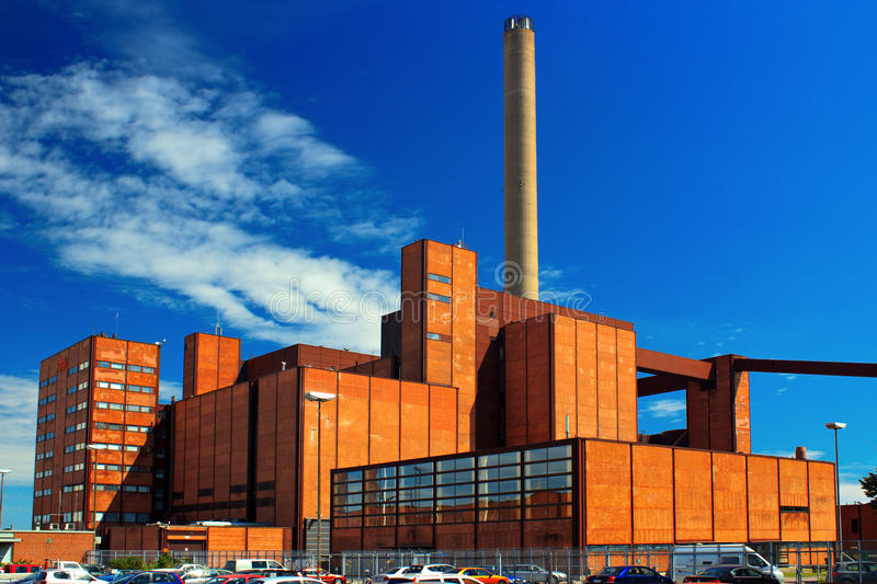 Download Power plant stock photo. Image of energy, building, finland - 25730614