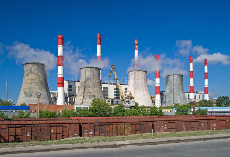 Download Power plant stock image. Image of energy, generation, pipe - 2669391