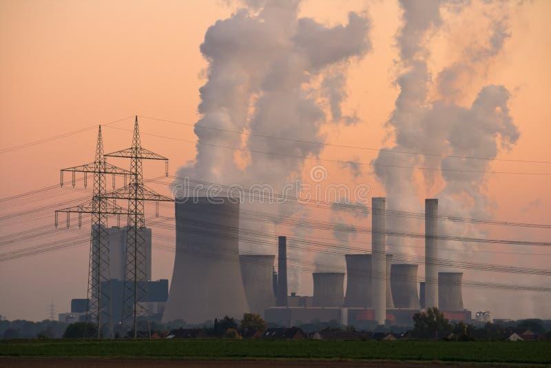 Download Power Plant stock image. Image of orange, generation, lines - 6865493