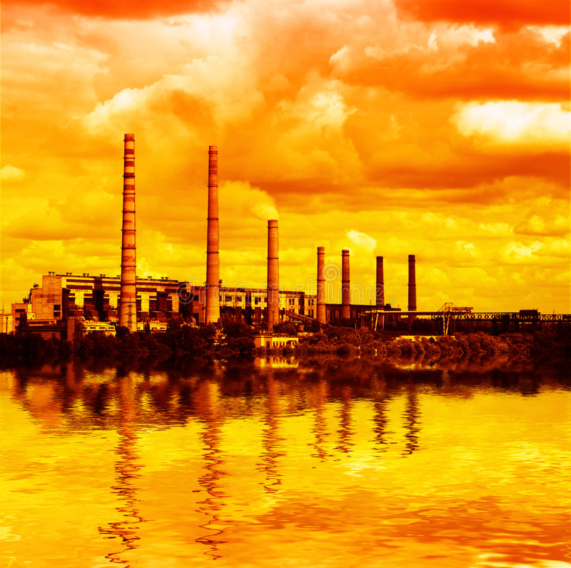 Free Power Plant - Air Pollution Stock Image - 5817361