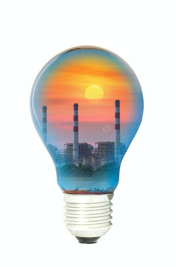 Power plant bulbs stock images