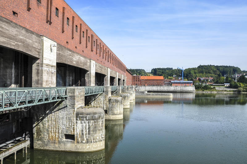 Power plant on Danube (Passau, Germany) stock images