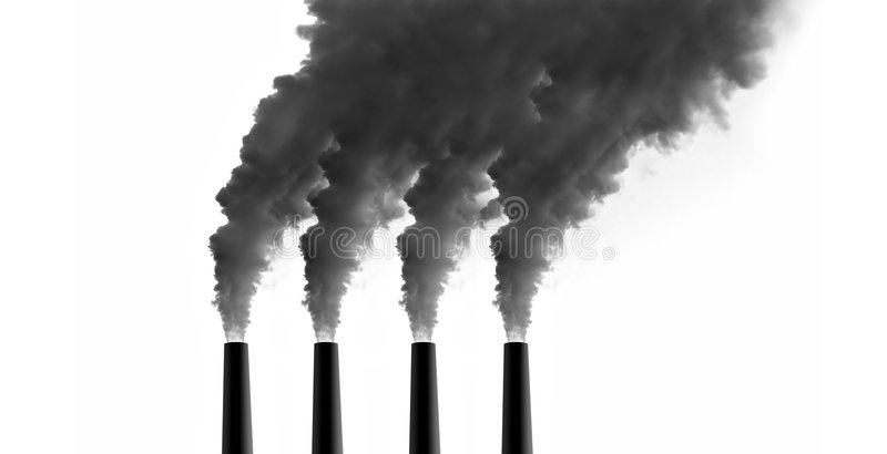 Power Plant emissions royalty free stock photos