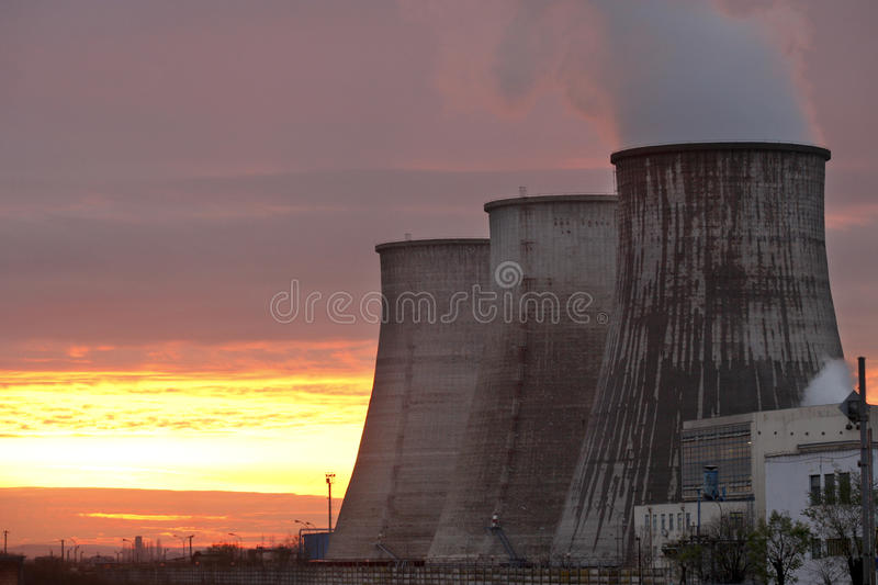 Power plant furnaces royalty free stock images