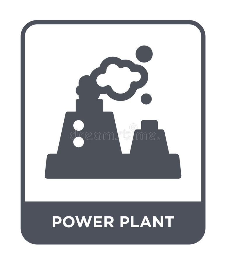 Power plant icon in trendy design style. power plant icon isolated on white background. power plant vector icon simple and modern. Flat symbol for web site royalty free illustration