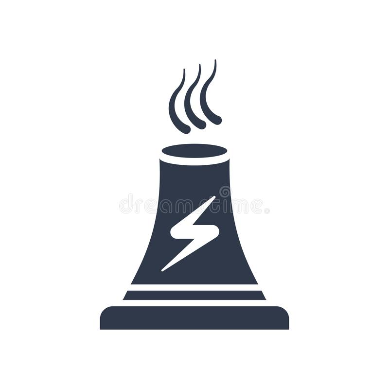 Power plant icon vector sign and symbol isolated on white background, Power plant logo concept. Power plant icon vector isolated on white background for your web royalty free illustration