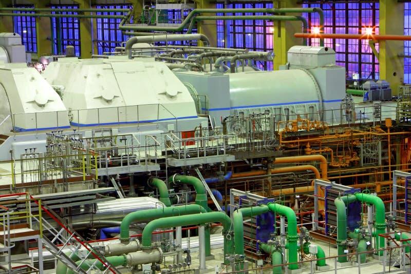 Power plant interior royalty free stock photo