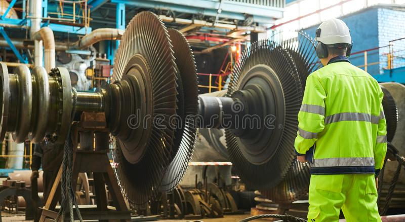 Power plant maintenance. Industial worker royalty free stock photos