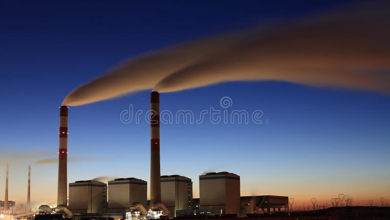 Download Power plant in morning stock photo. Image of blue, yulin - 23442494