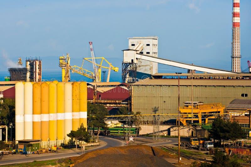 Power Plant in Piombino , Italy. stock images