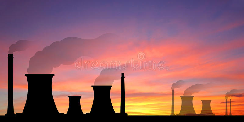 Power plant powerhouse electric industry industrial business factory background for design stock images