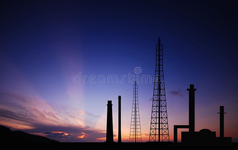 Power plant powerhouse electric industry industrial business factory background for design stock photos