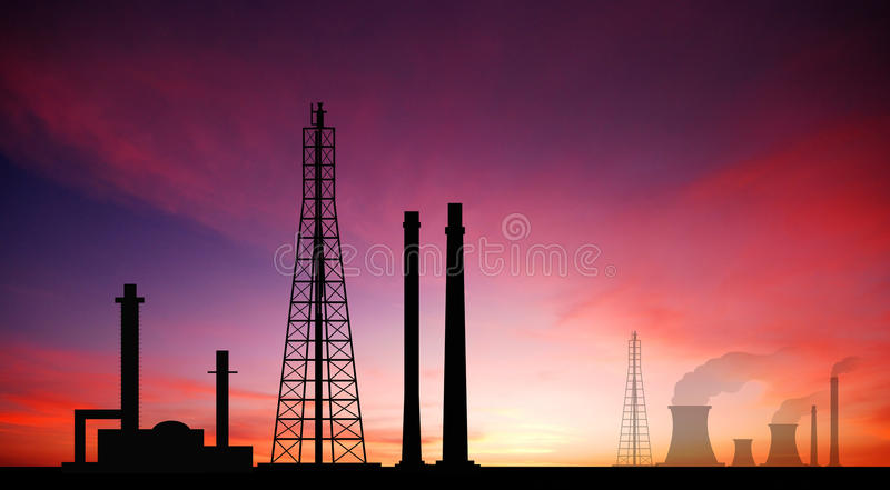 Power plant powerhouse electric industry industrial business factory background for design royalty free stock photo