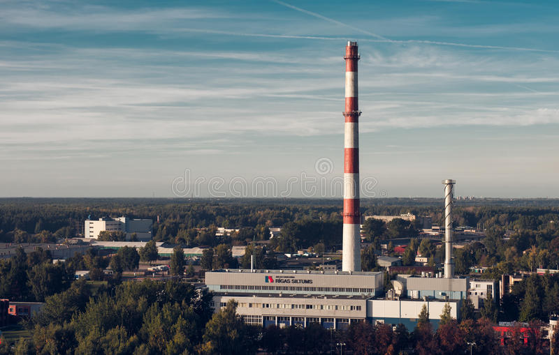Power plant in Riga stock images