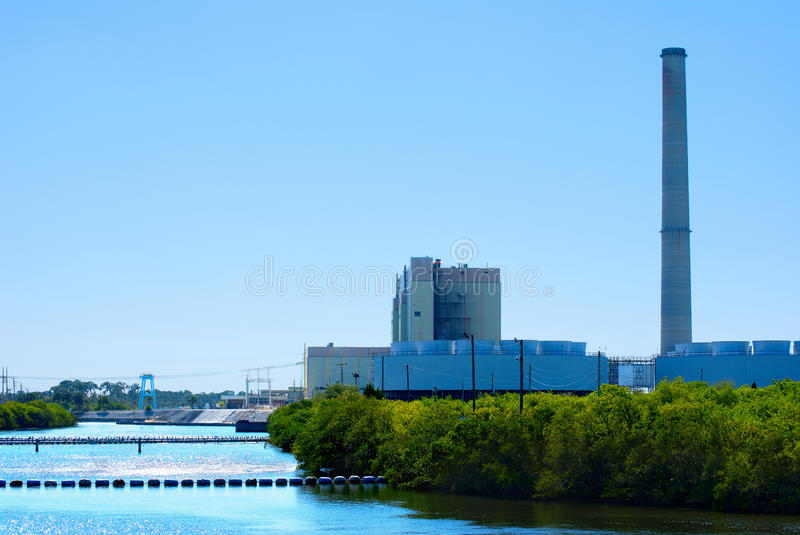 Download Power plant on a river stock photo. Image of pollutions - 22139562