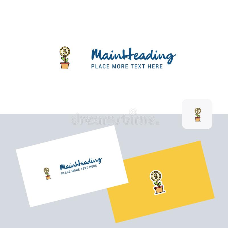 Power plant vector logotype with business card template. Elegant corporate identity. - Vector. This Vector EPS 10 illustration is best for print media, web royalty free illustration