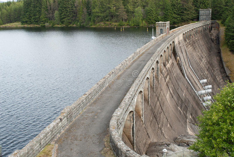 Power plant water reservoir royalty free stock photo
