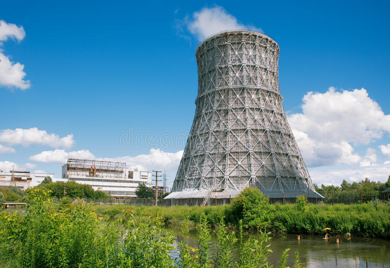 Power plants royalty free stock image