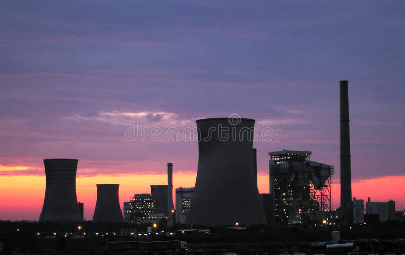 Download Power Plants At The Sunrise Stock Photo - Image: 6526818