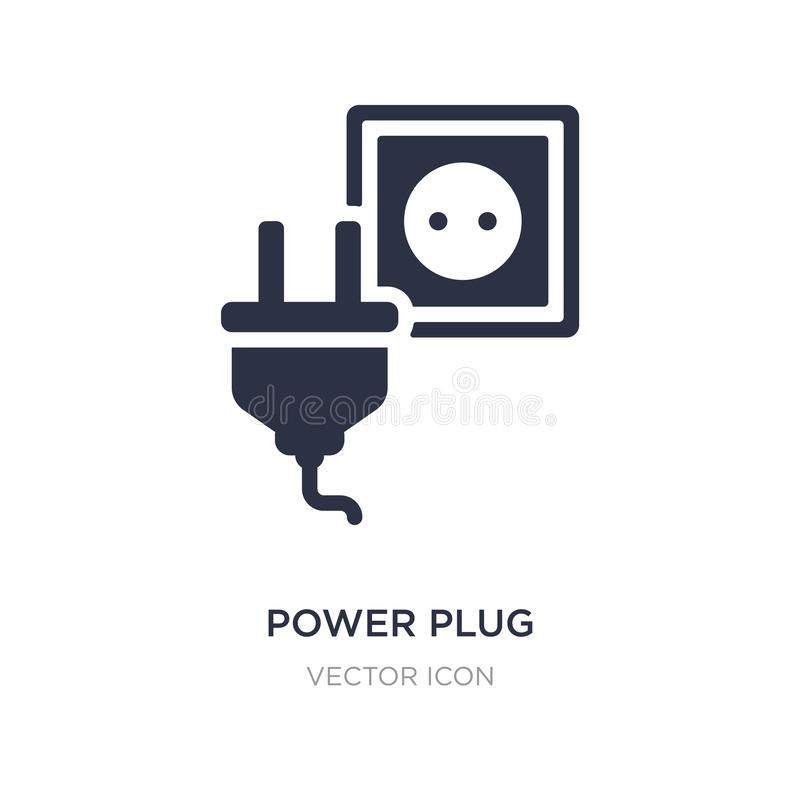 power plug icon on white background. Simple element illustration from Technology concept royalty free illustration