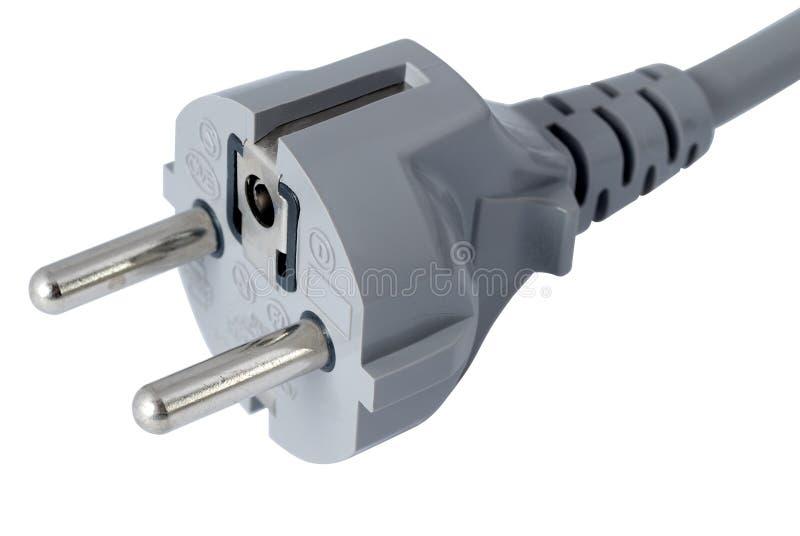 Power Plug isolated on white stock photography
