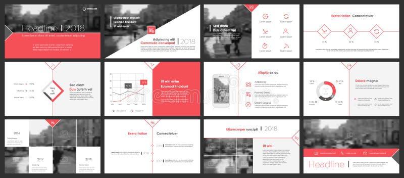 Power Point-de achtergrond van het presentatiemalplaatje vector illustratie