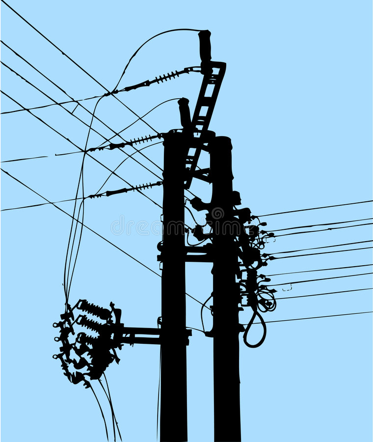 Download Power Pole stock vector. Image of access, junction, communications - 3985948