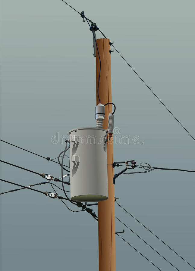 Download Power Pole stock vector. Image of danger, utility, pole - 9566872