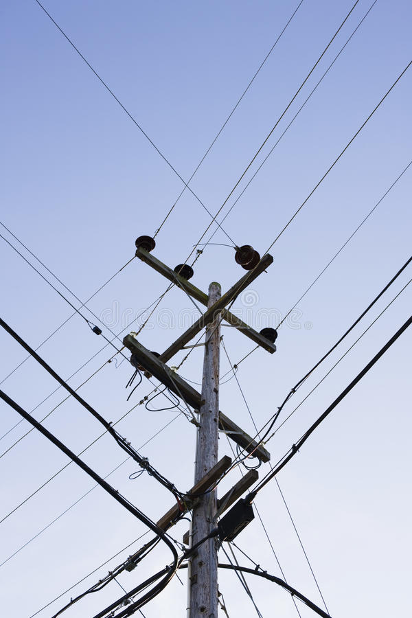 Free Power Pole And Wires Stock Photography - 12265602