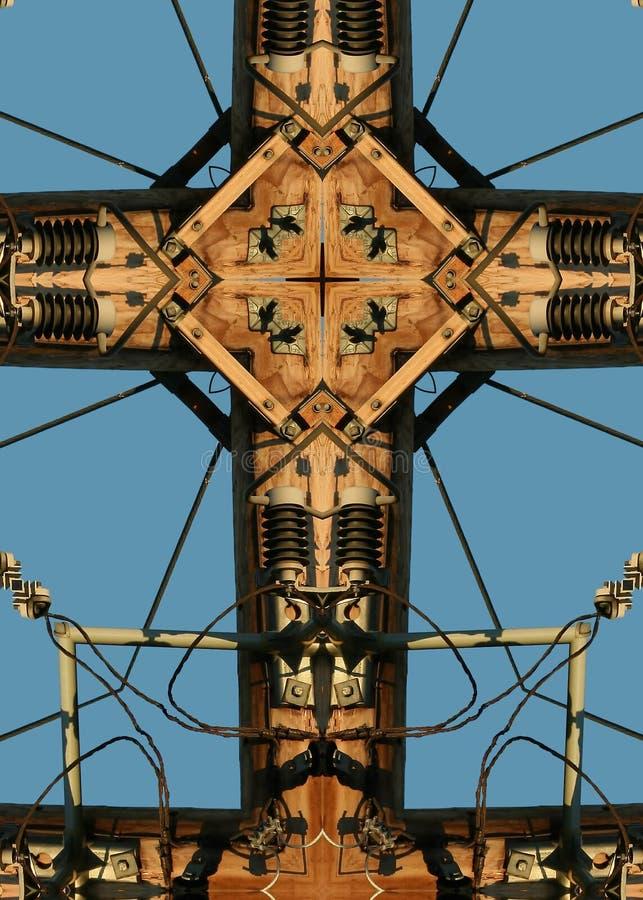 Power pole cross royalty free stock photo